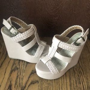 Women's Tan Strap Wedges - Brand New US Size 6